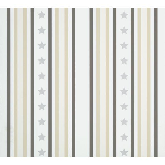 Papel Pintado Stars & Stripes Gris