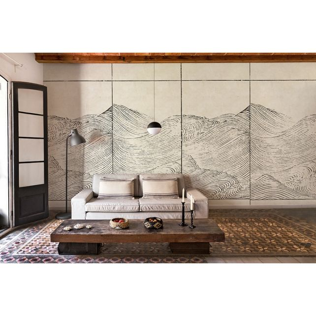 Mural Waves Papyrus
