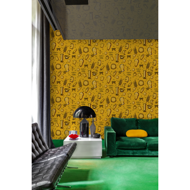 Papel pintado Le Rêve Yellow by Jordi Labanda
