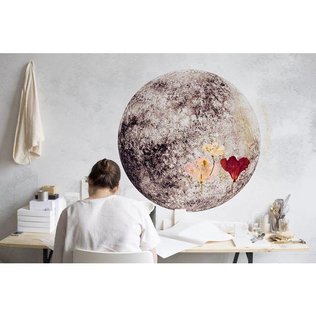 Mural Full Moon Blue