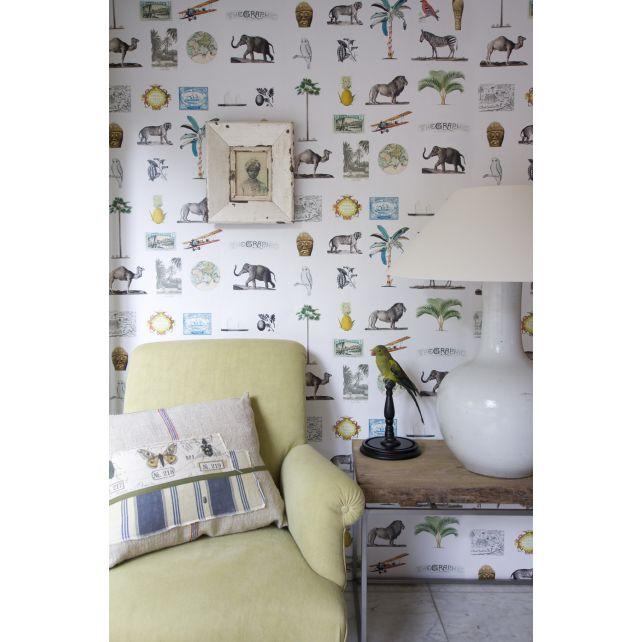 mural,savana,África,beige