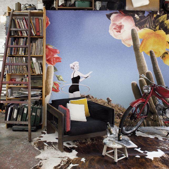 Mural Cutandpaste Marilyn