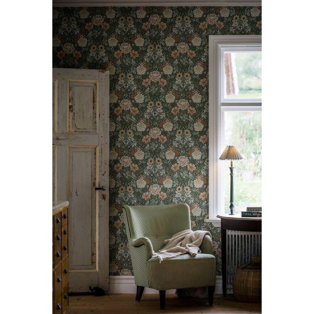 Dahlia Garden 7666 wallpaper