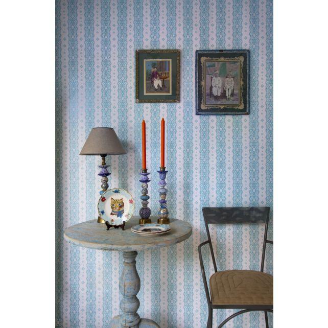 papel,pintado,Room,Seven,flores,azul,fondo,blanco
