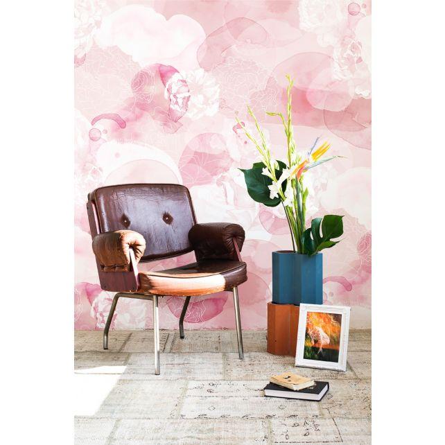 mural rosa difuminado