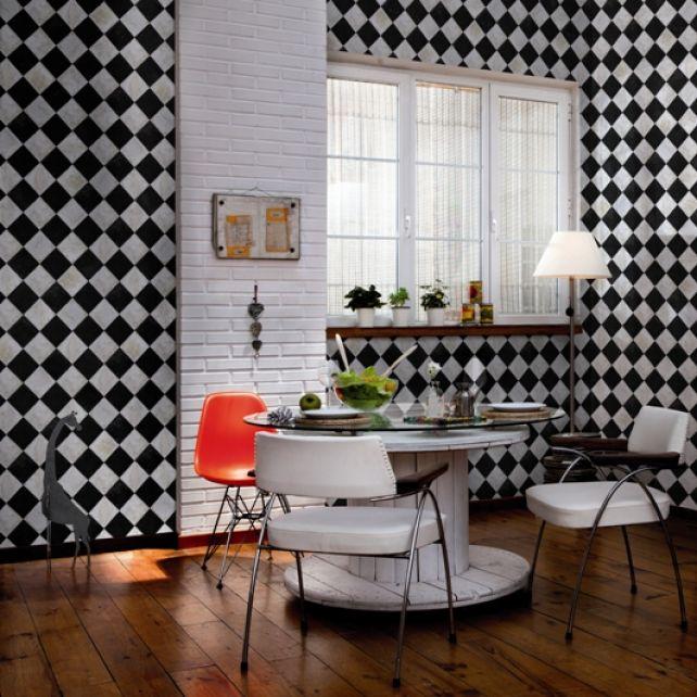 Papel Pintado Marble Chess
