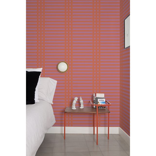 Papel pintado Grids Pink by Mut Design Studio