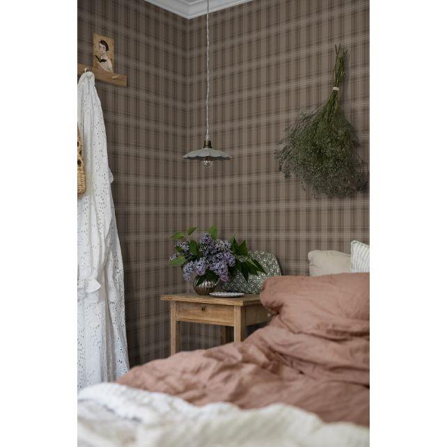 Papel pintado Tailor´s Tweed Brown