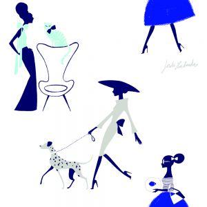 Papel pintado Jordi Labanda Pets color azul