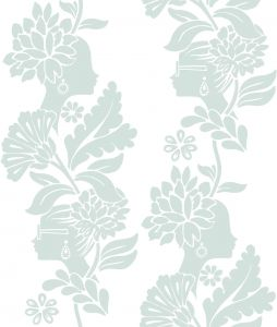 Papel pintado Jordi Labanda Damask Ladies color gris plateado