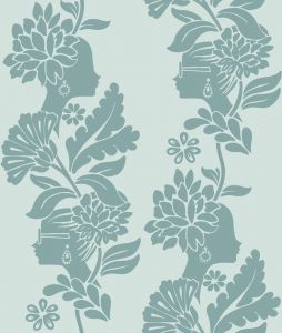 Papel Pintado Jordi Labanda Damask Ladies Color Gris Luna