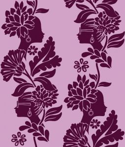 Papel Pintado Jordi Labanda Damask Ladies Color Rosa