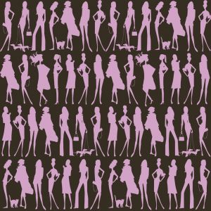 Papel Pintado Jordi Labanda Bond Girls Color Chocolate
