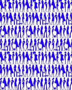Papel pintado Jordi Labanda Bond Girls color violeta