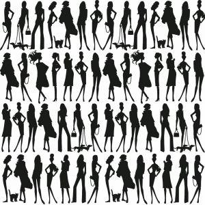 Papel pintado Jordi Labanda Bond Girls color blanco y negro