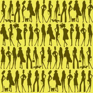 Papel pintado Jordi Labanda Bond Girls color champagne