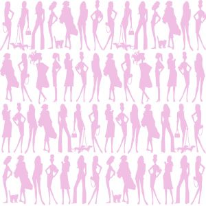 Papel Pintado Jordi Labanda Bond Girls Color Rosa
