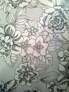 Papel Pintado Flores Perla