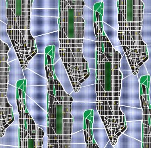 Mural Plano Manhattan Azul