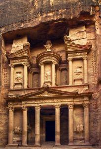 Mural Petra Gate Sepia