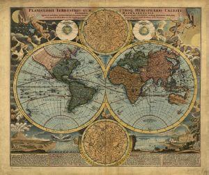 Mural Mapamundi Clásico