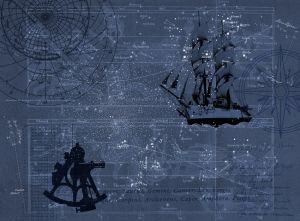 Mural Mapa Astral Azul