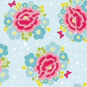 papel,pintado,flor,rosa,cielo,azul