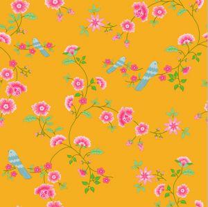 papel,pintado,pájaros,azules,rosas,cielo,amarillo