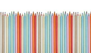 mural infantil lápices claros