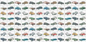 mural infantil coches