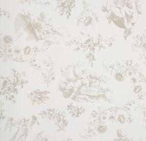 papel,pintado,Room,Seven,flores,ángeles,beige,fondo,blanco