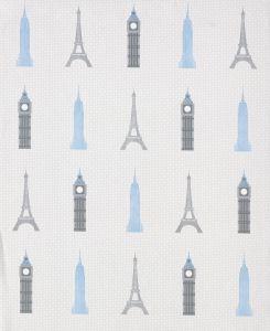 Papel Pintado Monumentos Plata