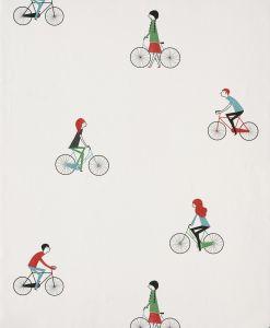 Papel Pintado Bicicletas Blanco