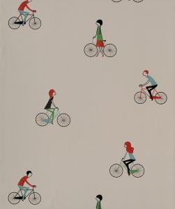 Papel Pintado Bicicletas Piedra