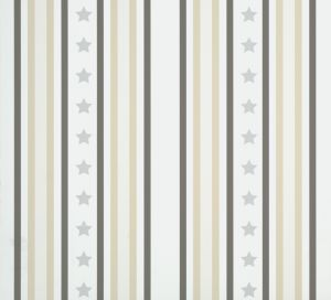 Papel Pintado Stars & Stripes Gris