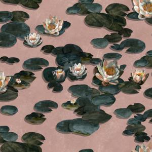 Papel pintado Nenúfares Pink by Ailanto Brothers