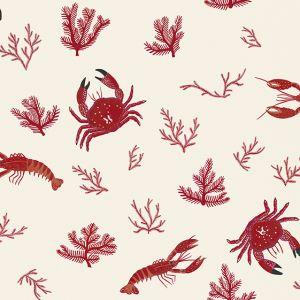 Papel Pintado Crustáceos Hueso