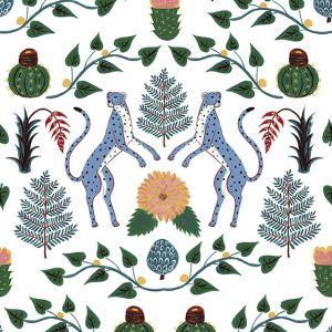 Papel Pintado Cheetahs Azul