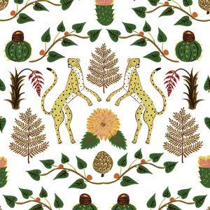 Papel Pintado Cheetahs Amarillo