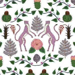 Papel Pintado Cheetahs Rosa