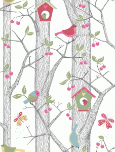 Papel pintado Cherry Friends 6262