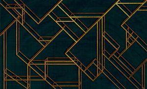 Mural L Geometric Dark Blue