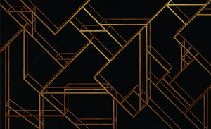 Mural L Geometric Black