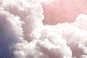 Mural Clouds Rosas