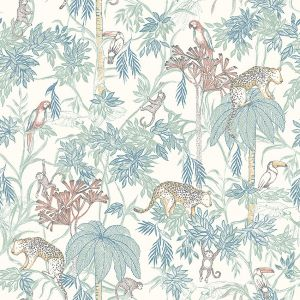 Papel pintado Wild Jungle White