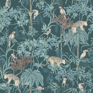 Papel pintado Wild Jungle Green