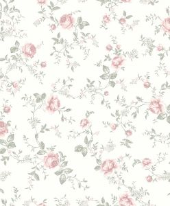 Papel pintado Rose Garden White