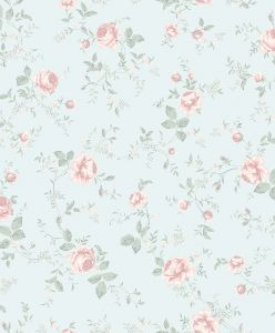 Papel pintado Rose Garden Blue