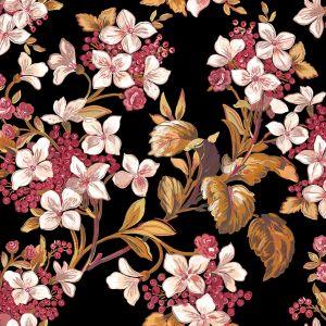 Papel pintado Flowery Black