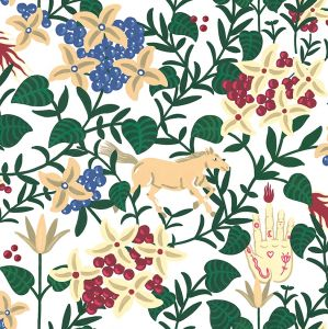Papel pintado Neo-Flowery White